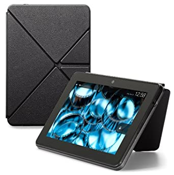 """Amazon Kindle Fire HDX 7"""" Standing Leather Origami Case, Black  [will only fit Kindle Fire HDX 7"""" (3rd Generation)]"""