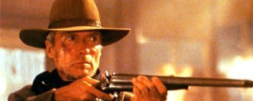 大きな写真、「許されざる者」散弾銃のイーストウッド