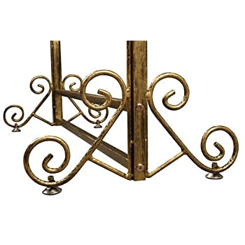 Brand New Free Standing Decorative Antique Bronze Iron Garment Coat Rack (Y002C BRONZE)