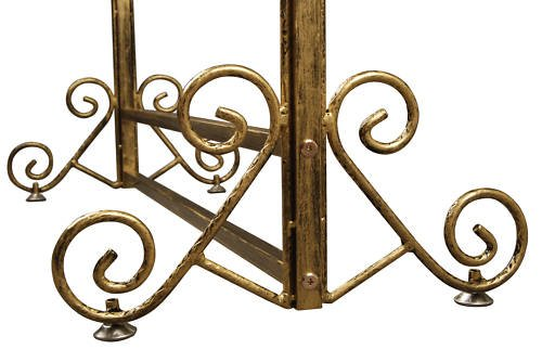 Brand New Free Standing Decorative Antique Bronze Iron Garment Coat Rack (Y002C BRONZE) 2