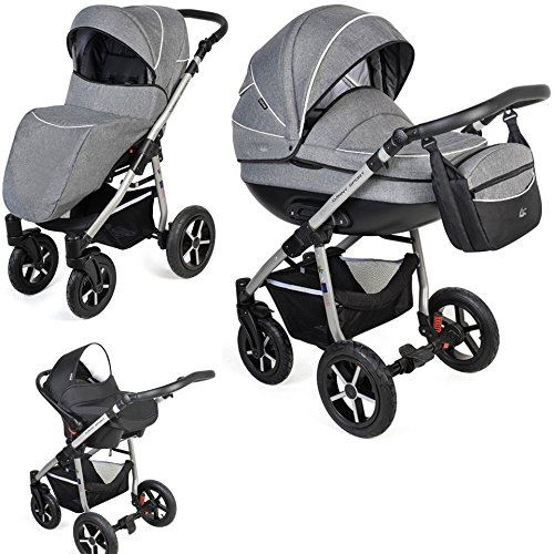 clamaro baby boat 3 in 1 premium kombi kinderwagen mit. Black Bedroom Furniture Sets. Home Design Ideas