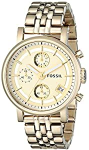 Fossil Chronograph Gold Tone Ladies Watch ES2197