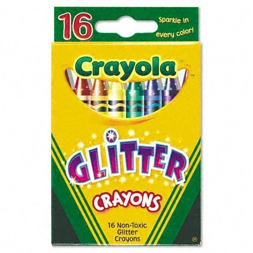 Crayola Glitter Crayons 16 Count - 2 Packs - 1
