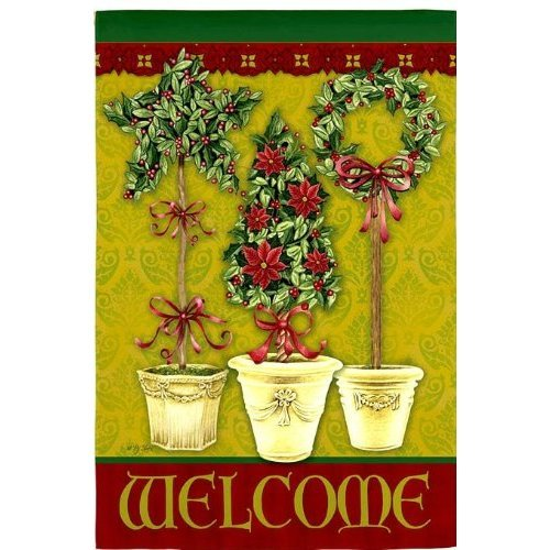 Garden Flag Welcome Christmas Season