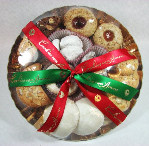 Cookies Con Amore Handmade Italian Christmas Cookie Assortment Plate 16 Oz.