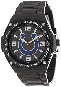 Game Time Unisex NFL-WAR-IND Warrior Indianapolis Colts Analog 3-Hand Watch by Game Time