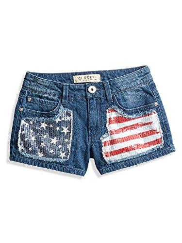 GUESS Kids Denim Flag Shorts (2-6x)