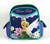 Disney Fairies Princess - Tinker Bell Backpack - Mini Size - Floral in Lavender and Navy Blue.