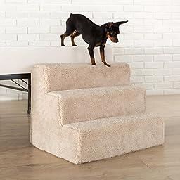Sleep Revolution 3-Step Comfort Foam Pet Stairs/Pet Ramp/Pet Ladder