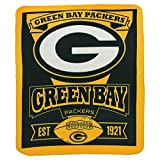 NFL Green Bay Packers Marque Printed Fleece Throw, 50-inch by 60-inch