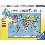 Ravensburger World Map Puzzle (60-Piece)