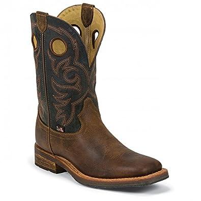 Justin Men's 1879 Cowboy Boot Square Toe Brown US