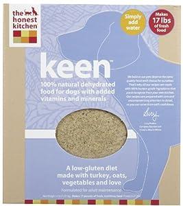 Honest Kitchen Keen, Low-Gluten Dehydrated Raw Dog Food w/Turkey, 4lb by The Honest Kitchen