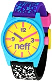 Neff Men's NF0201-multi spreckle Custom Designed Neff and PU Strap multi spreckle Watch