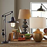 Birch Lane Pulley-Style Design Fluorescent Robertson Table Lamp, Sophisticated Oil-Rubbed Bronze Color