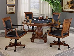 Kingston 5 Piece Game Set With Leather Back Game Chair