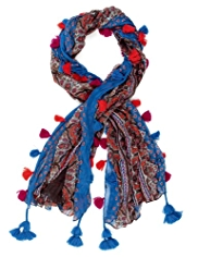M&S Collection Lightweight Paisley Print Scarf