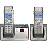 GE DECT 6.0 Advanced Silver Cordless Phone with Goog-411, CID, ITAD, and 2 Handsets (28223EE2)