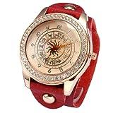 ローズゴールド クリスタル ウィメンズ 星座 パターン ブレスレット クォーツ腕時計WAA650