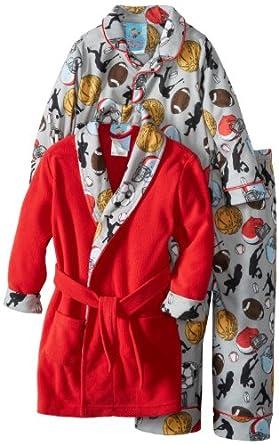 Baby Bunz Little Boys' Champions Pajama Set, Grey, 2T