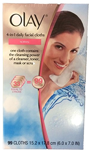 Olay 4-in-1 Daily Facial Cloths for Normal Skin - Box of 99