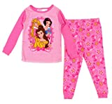Disney Princess Girls 2 Pc Pajama Sleepwear Set Belle Snow White Sleeping Beauty-18m
