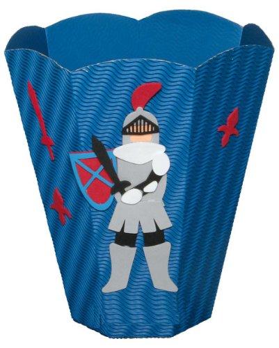 Bastelset Papierkorb – Ritter Mülleimer blau Junge günstig