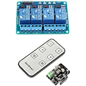 SainSmart 4-CH Relay Module Infrared Remote Controllor IR Receiver 5V 4-CH Relay Module