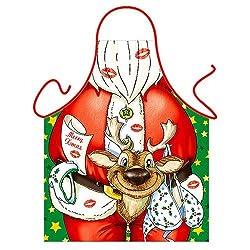 'Santa Claus' (Naughty) - Kitchen Apron - 100% Polyester