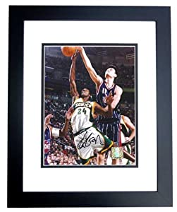 Yao Ming Autographed Hand Signed Houston Rockets 8x10 Photo - BLACK CUSTOM FRAME by Real Deal Memorabilia