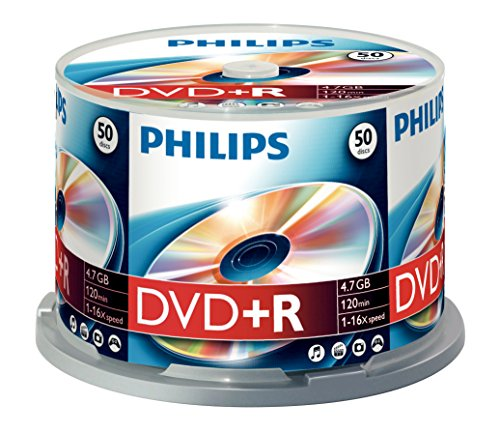 Philips DVD+R x 50 – 4.7 GB – storage media (T45314) Category: DVD Media