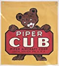 Vintage Cotton Banner - Piper Cub Bear