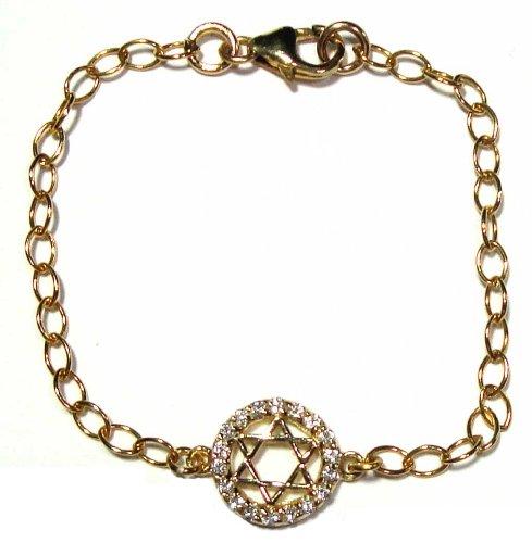 Star of David Gold Filled Gilrs Bracelet