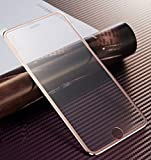 iPhone7 7plus 用 強化ガラスフィルム 全面フルカバー 液晶保護 3Dラウンドエッジ加工 耐衝撃 指紋防止加工 保護 フィルム (iPhone7, ローズキン)