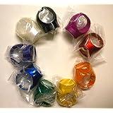 Green Lantern Blackest Night / Brightest Day Set of 9 Power Rings White/Red/Orange/Yellow/Green/Blue/Indigo/Violet/Black