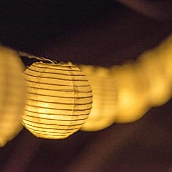Solar Powered Lanterns String Lights - Outdoor Lighting - 25 LED Globe Lights Per String - 20 Feet