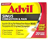 Advil Sinus Congestion & Pain Reliever Coated Tablets, 20 Count