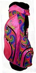 Birdie Babe Womens Golf Bag Pink Tie Dye Ladies Hybrid Golf Bag
