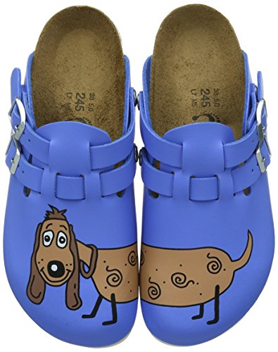 Birkenstock Professional - Zoccoli Kay, Donna, Blu (Blau (Dog Blue Background)), 42