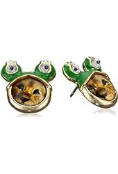"Betsey Johnson ""Costume Critters"" Lion Frog Stud Earrings"