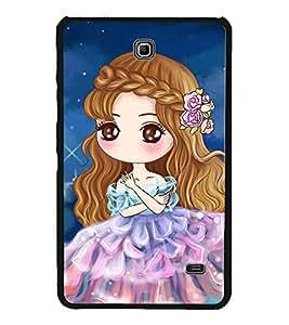Cute Anime Girl 2D Hard Polycarbonate Designer Back Case Cover for Samsung Galaxy Tab 4 :: Samsung Galaxy Tab 4 T231