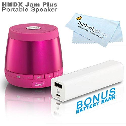 Hmdx Hx-P240Pk Jam Plus Portable Speaker - Allows You To Pair A 2Nd Jam Plus Speaker For True Stereo Sound (Pink) + Free Bonus Photive 3000Mah Portable Battery Charger Power - Allows You To Charge Your Speakers Or Phone On The Go