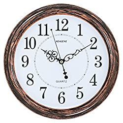 Adalene 13-Inch Round Quartz Decorative Wall Clock