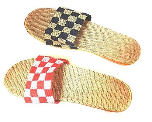 スリッパ 夏 用 ルーム シューズ 男女 ペア 2足 セット 履きやすい 涼しい 室内 来客
