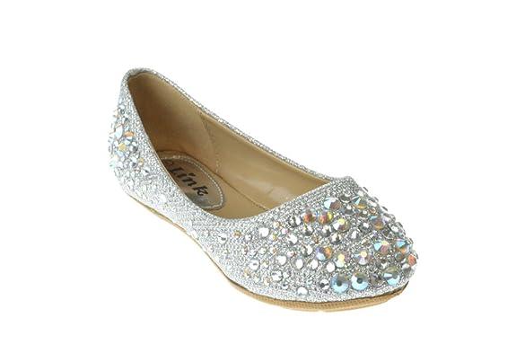Link-Girls-Larisa-39K-Rhinestone-Ballet-Ballerina-Flats-Shoes
