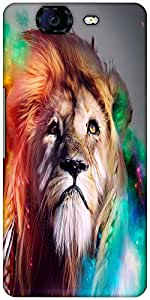 Snoogg Colorful Lion 2770 Designer Protective Back Case Cover For Micromax Ca...