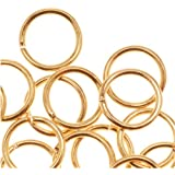 22K Gold Plated Open 6mm Jump Rings 21 Gauge (50)