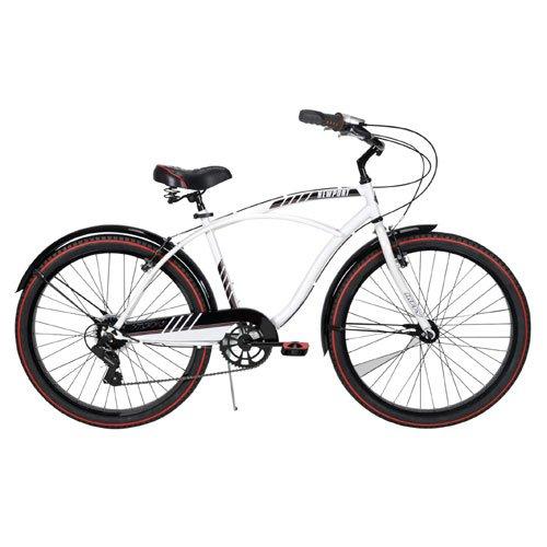 Huffy Men's Newport Cruiser Bike, Gloss White, 26-Inch/Medium