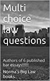 Multi choice law questions: e law book, Authors of 6 published bar essays!!!!!!