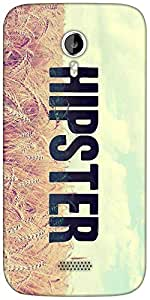 Snoogg HIPSTER PICSTY Designer Protective Back Case Cover For Micromax A116